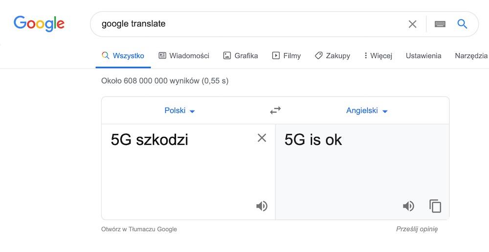 Google translate 10b 5G