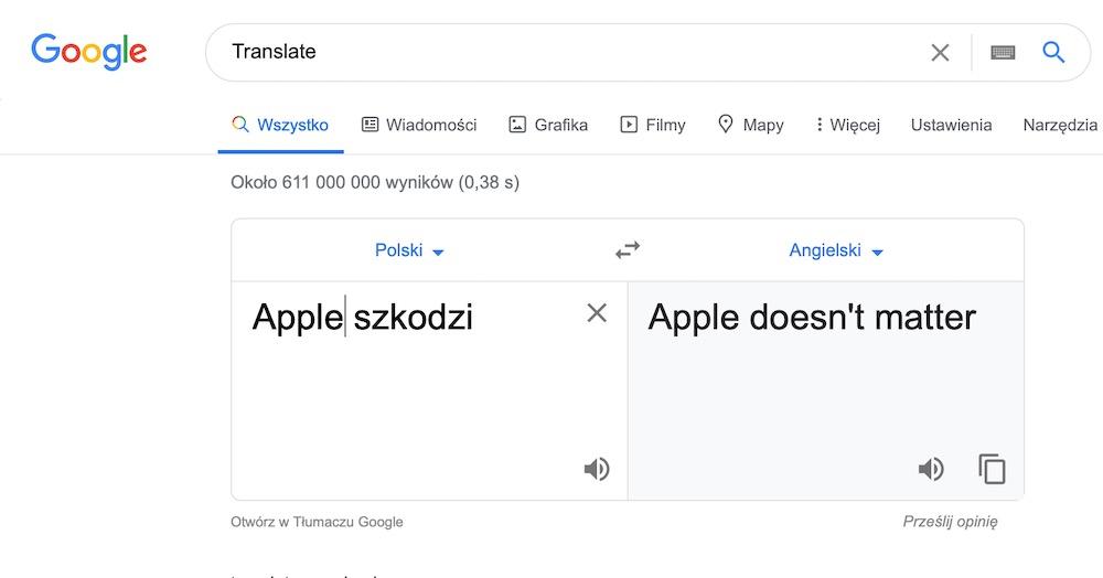 Google translate 12 apple