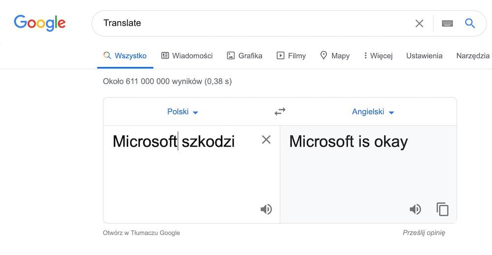 Google translate 13 microsoft