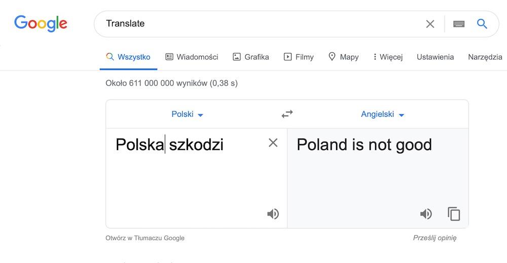 Google translate 9 polska