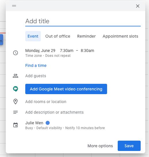 kalendarz google dodawanie wydarzeń