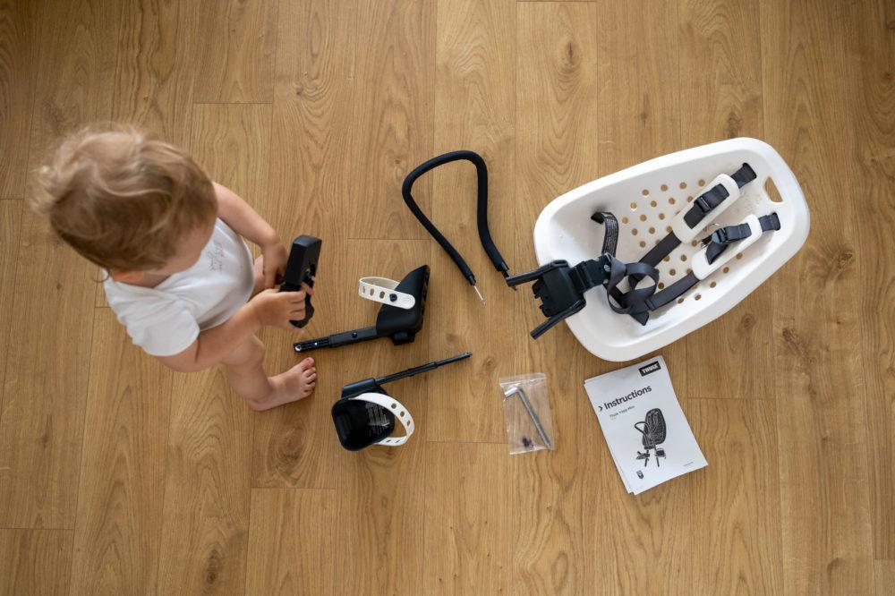Z dzieckiem na rowerze: testujemy przedni fotelik rowerowy Thule Yepp Mini
