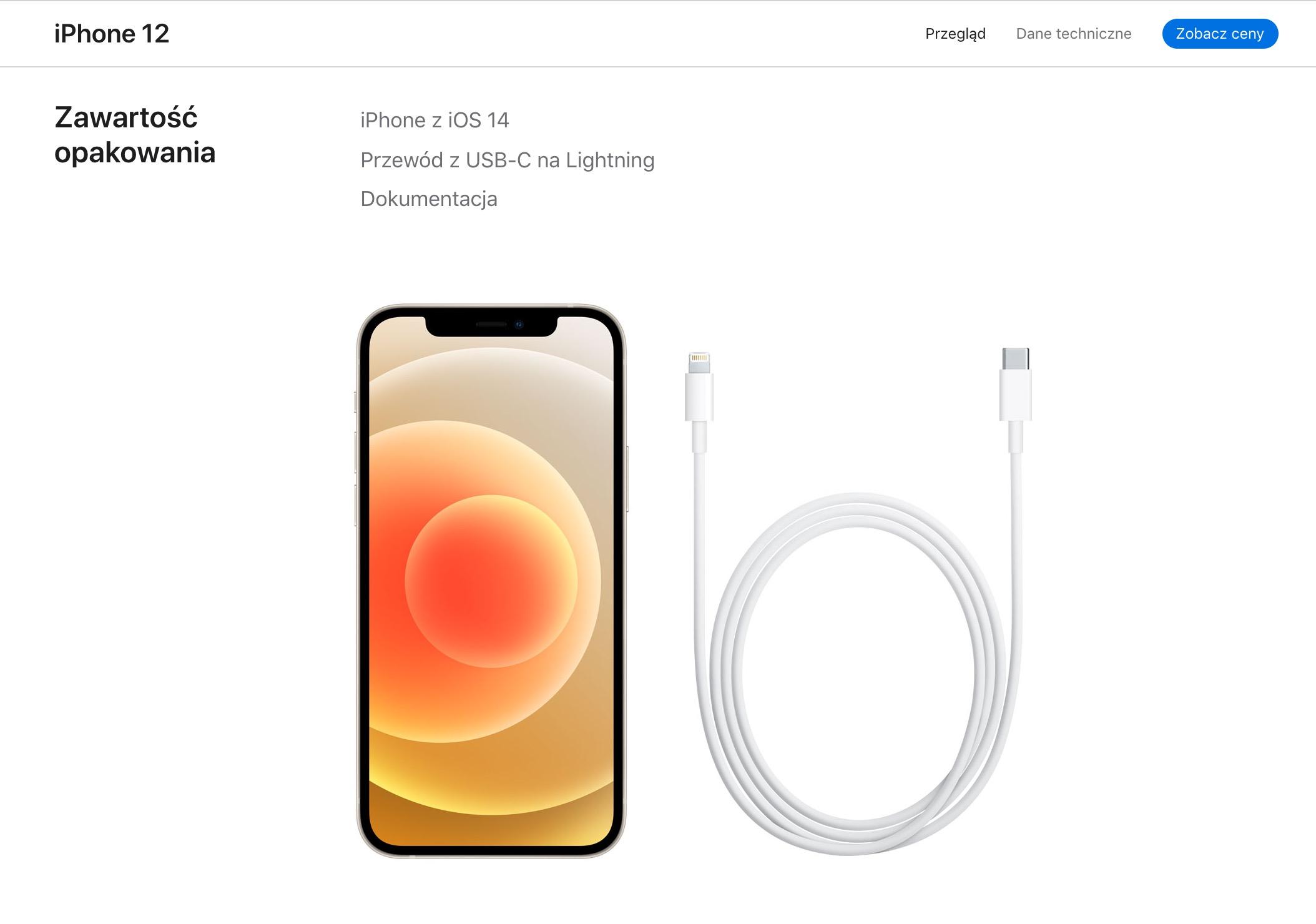 iPhone 12 Ładowarka