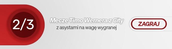 W 2 z 3 spotkań przeciwko Manchesterowi City, asysty Timo Wernera zapewniły wygraną Chelsea Londyn