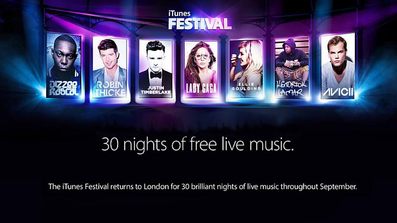 """iTunes Festival 2013: Wśród gwiazd Timberlake i Lady G. Bilety w """"METRO"""""""
