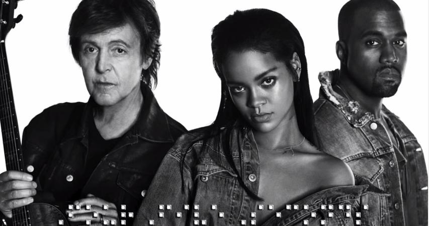 """Rihanna, Kanye West i Paul McCartney w jednym utworze. Posłuchaj """"FourFiveSeconds"""""""