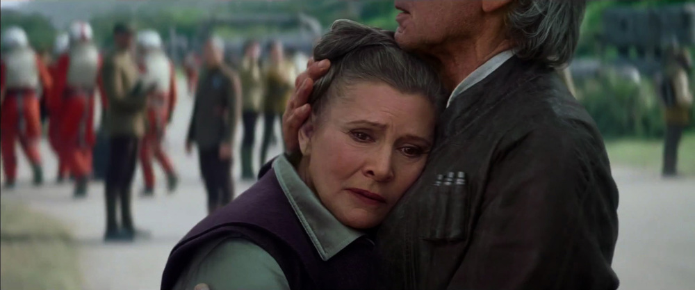 star wars episode VII the force awakens leia han