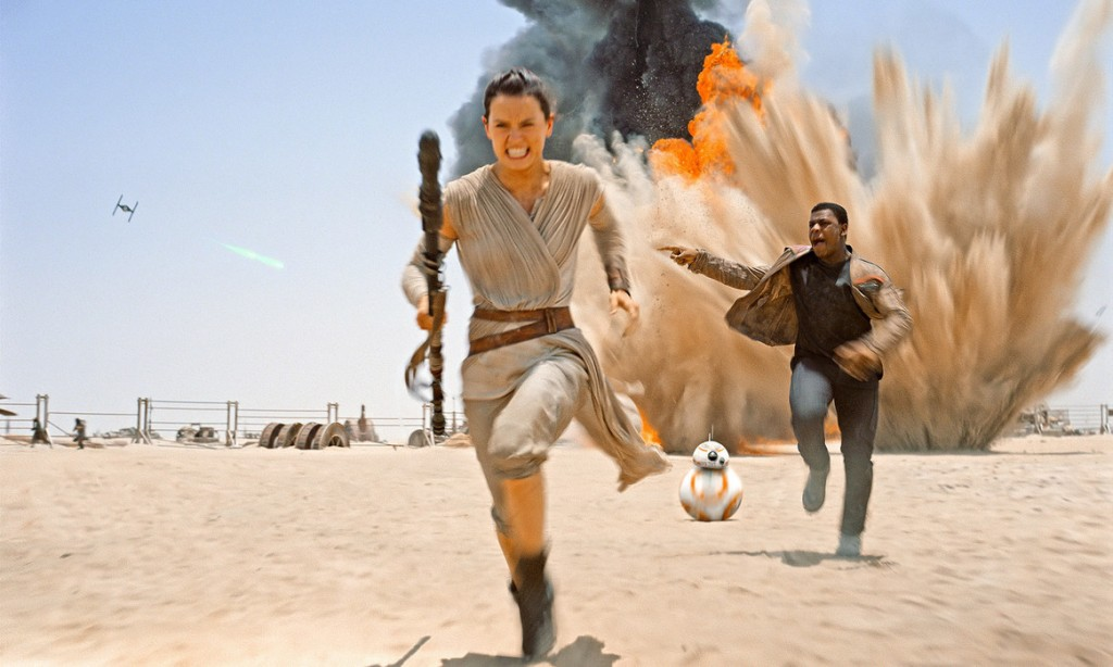 """Rey wraz z Finnem i BB-8 uciekają przed siłami """"Nowego Porządku"""""""