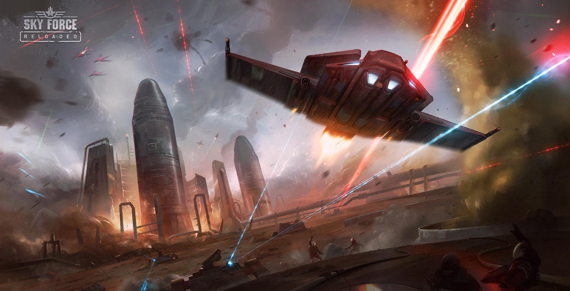 Sky Force Reloaded – najlepsza mobilna gra Shoot 'em up powstała w Gliwicach. W dodatku jest za darmo