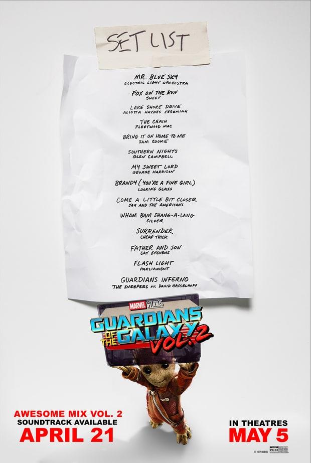 Guardians of the Galaxy Vol. 2 - Strażnicy Galaktyki 2 - Awesome Mix Vol. 2 - soundtrack OST muzyka