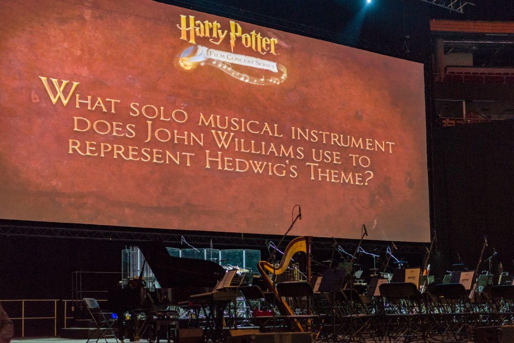 Przed koncertem wyświetlano na ekranie ciekawostki zza kulis. Zarówno