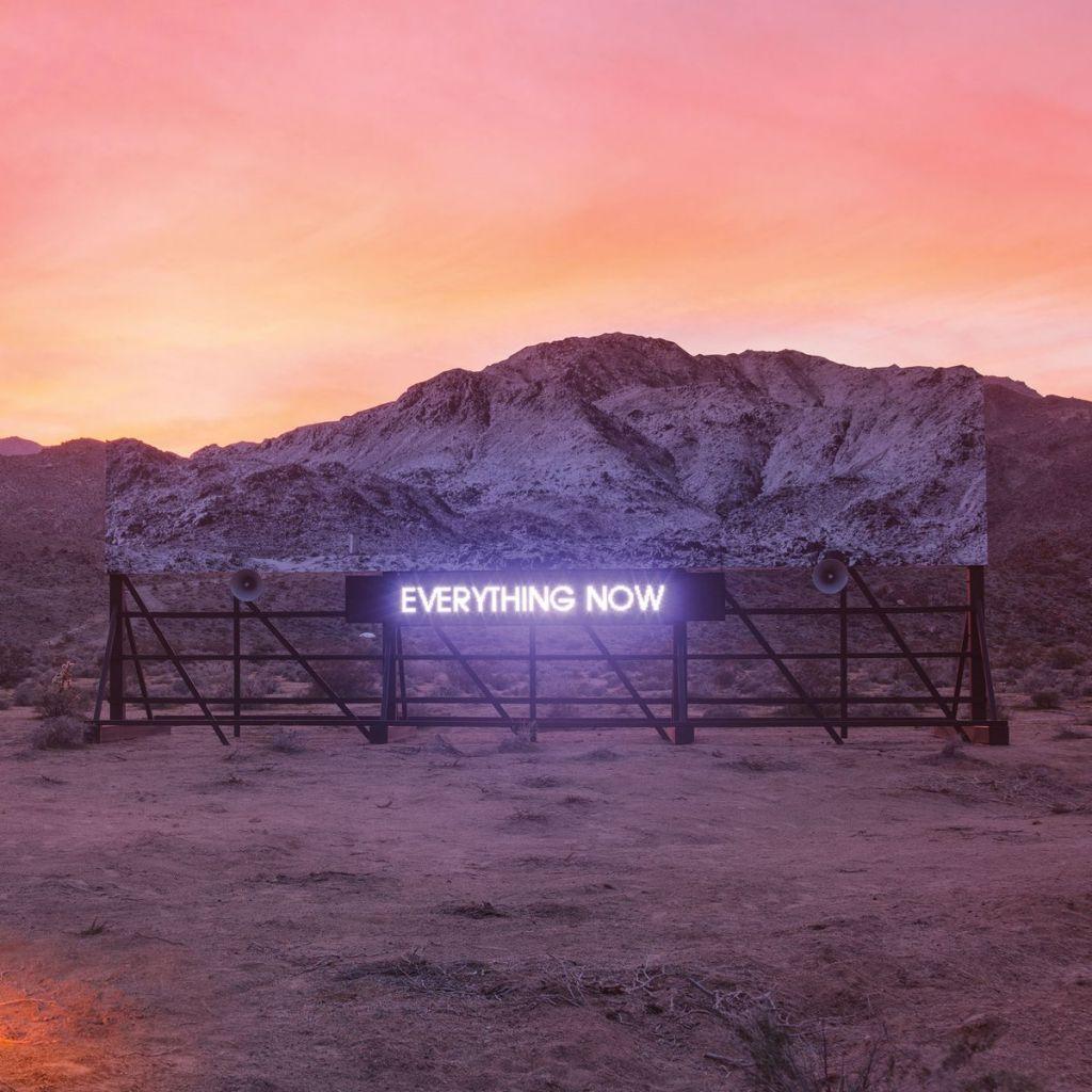 Okładka płyty Everything Now grupy Arcade Fire
