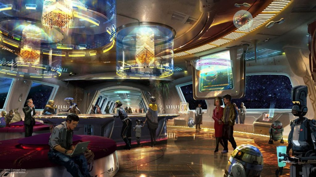 Lobby hotelu Star Wars, grafika: Disney/Lucasfilm