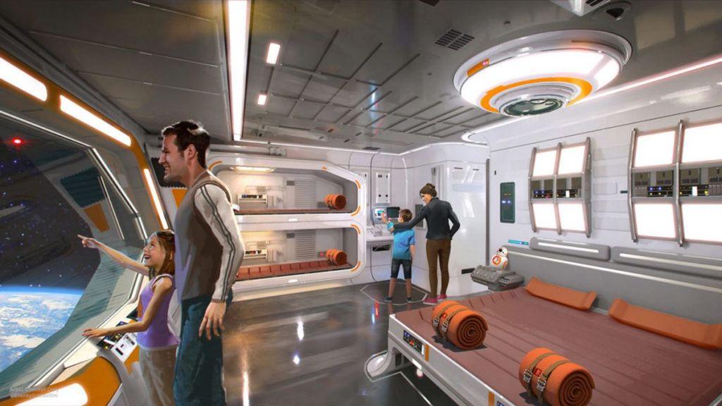 Projekt pokoju hotelowego w Star Wars: Galaxy's Edge, grafika: Disney/Lucasfilm