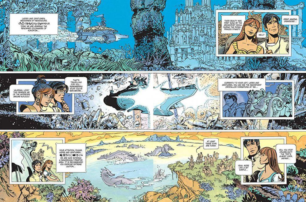 Kadr z 16 zeszytu komiksu o przygodach Valeriana