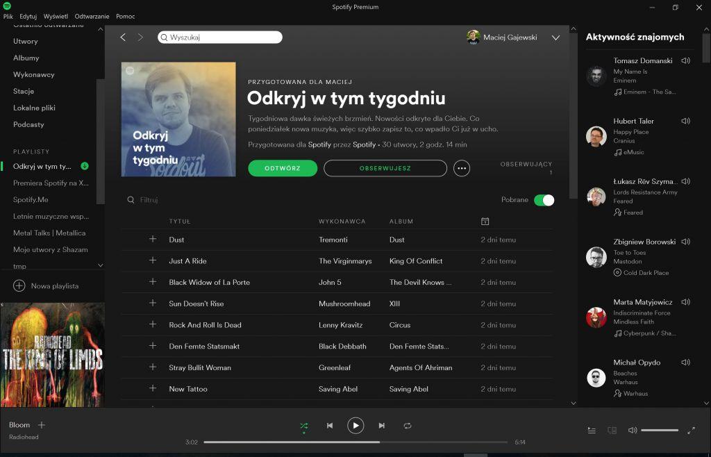 Spotify Discover Weekly odkryj w tym tygodniu