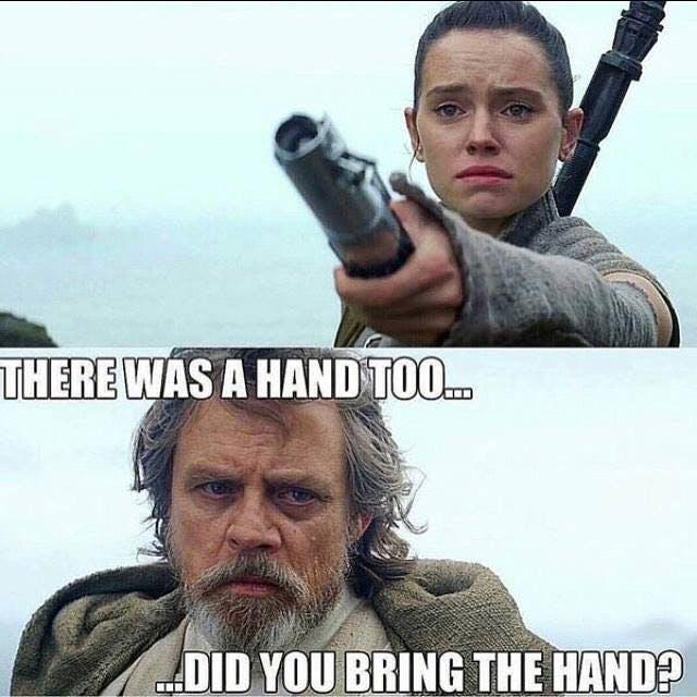 Luke rey lightsaber mem there was a hand too