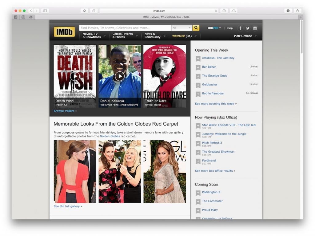 imdb - aplikacje do śledzenia premier