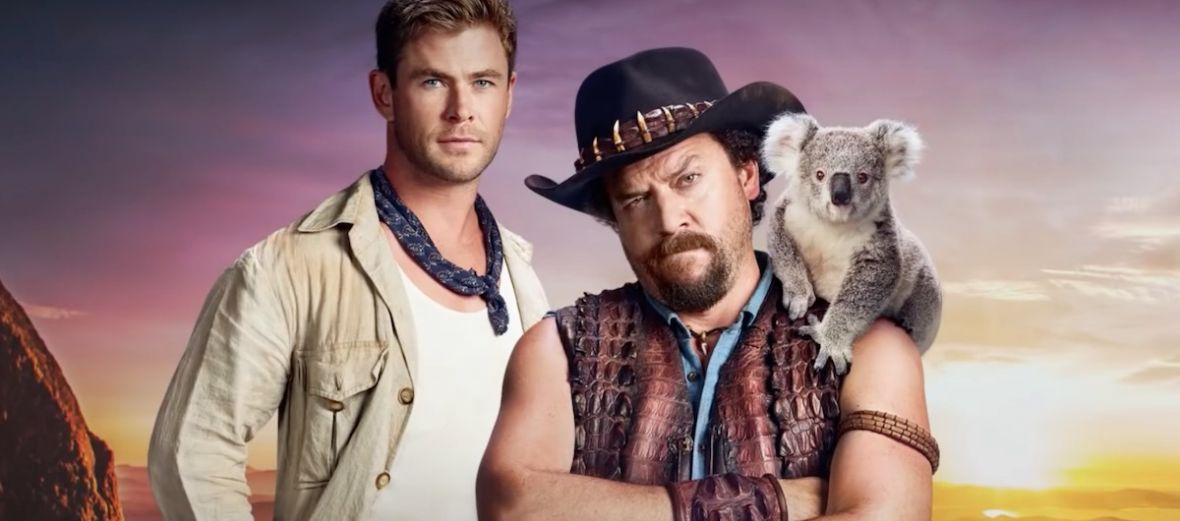 Kapitalny pomysł! Australia finansuje fikcyjny zwiastun Krokodyla Dundee z Robbie, Hemsworthem i Crowe'em