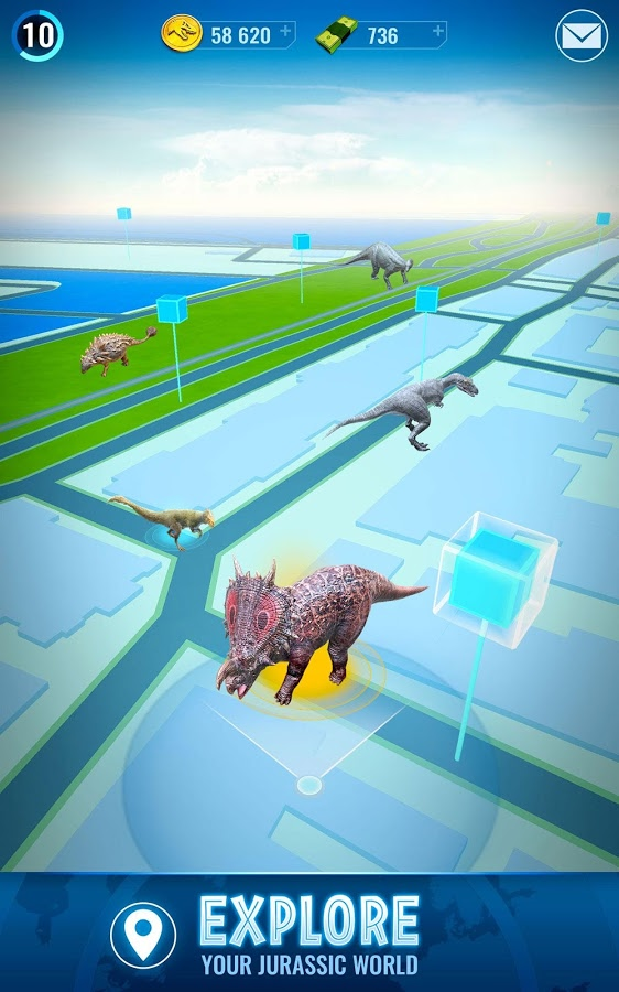 jurassic world alive pokemon go gra 3