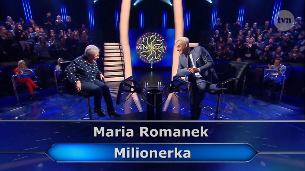 Maria Romanek wygrała milion złotych. Milionerzy drugi raz z najwyższą wygraną