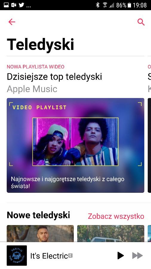 Apple Music Android teledyski