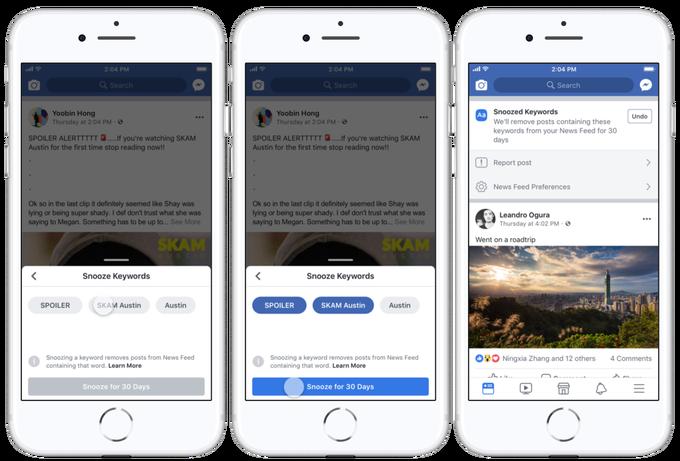 jak uniknąć spoilerów facebook