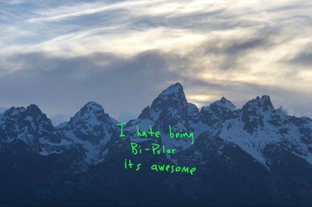 Okładka płyty Ye Kanye Westa, na której przyznaje, że cierpi na chorobę afektwynwo dwubiegunową