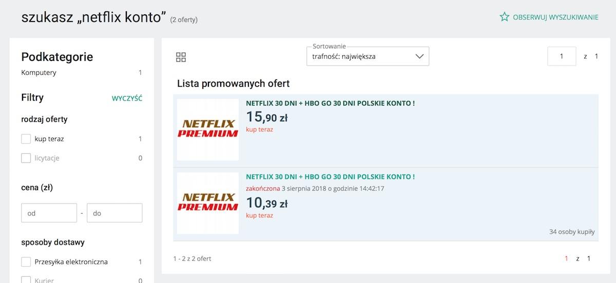 Allegro Nie Chce Juz Aukcji Z Kontami Netflix Sprawdzamy Skutecznosc Blokady