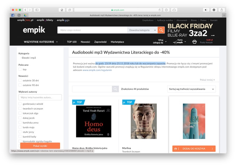 audiobooki black friday 2018 2 empik pl