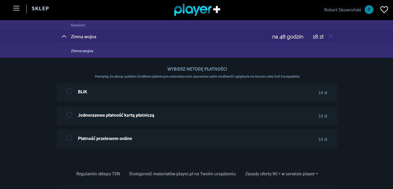 zimna wojna player.pl