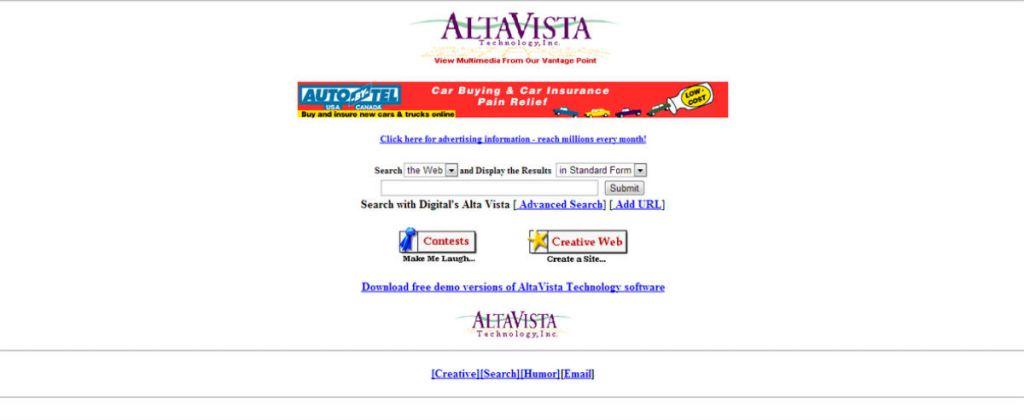 alta vista internet 1995