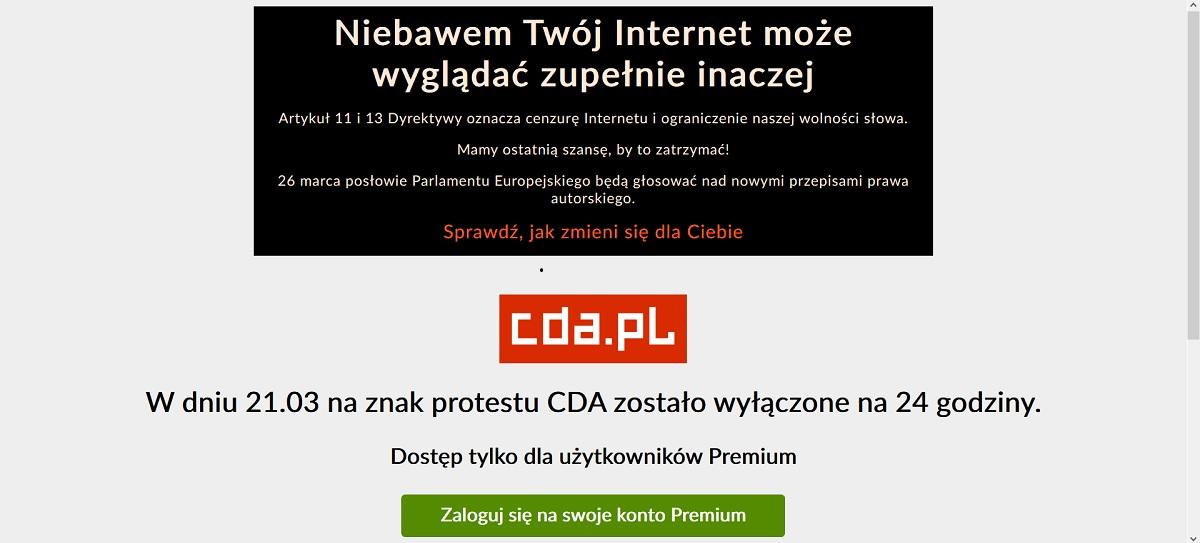 cda. pl nie działa