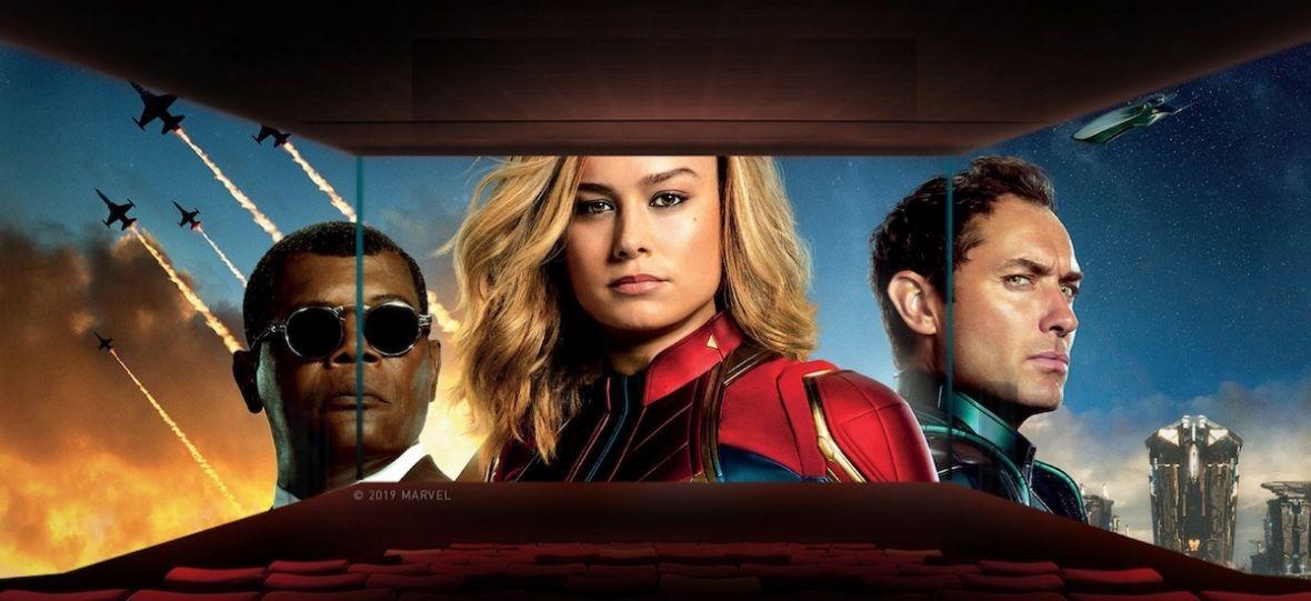 """Gdy kinowe ekrany otaczają cię z trzech stron. Widzieliśmy """"Kapitan Marvel"""" w sali ScreenX"""