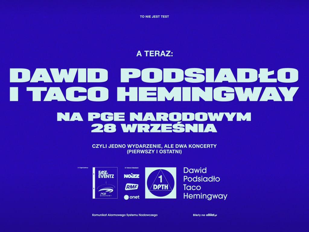 Taco Hemingway i Dawid Podsiadło na Narodowym