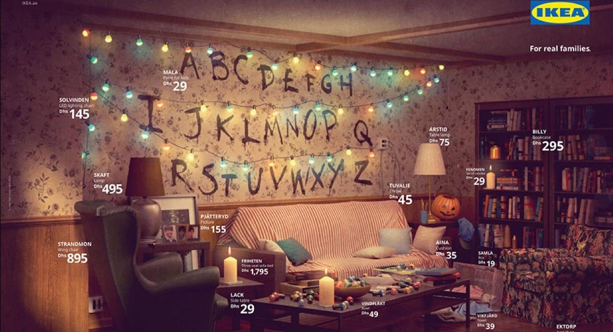 IKEA odtwarza mieszkania z seriali - Stranger Things