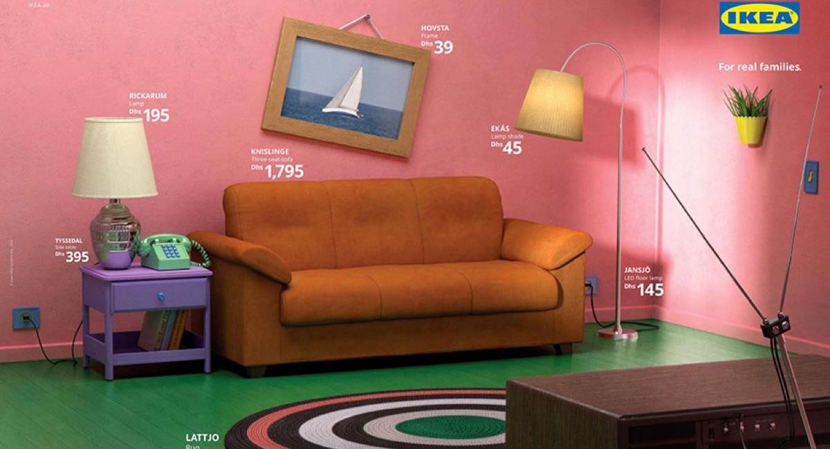 IKEA odtwarza mieszkania z seriali - The Simpsons
