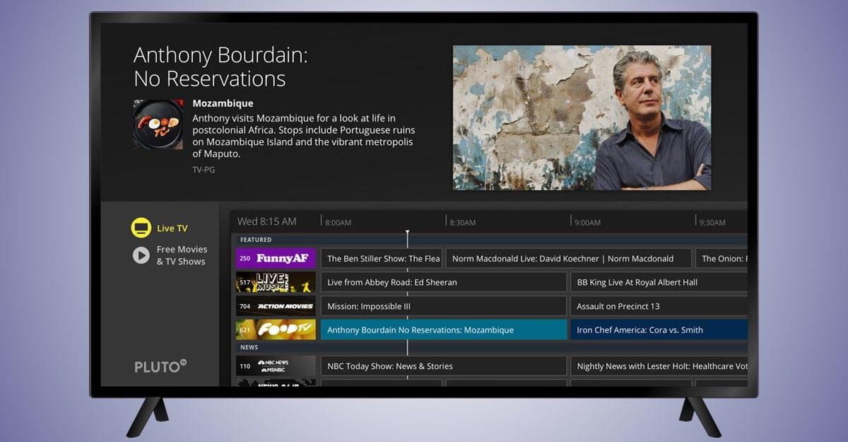 Aplikacja do darmowego streamingu Pluto TV