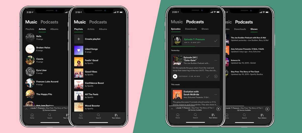 Nowy design aplikacji Spotify