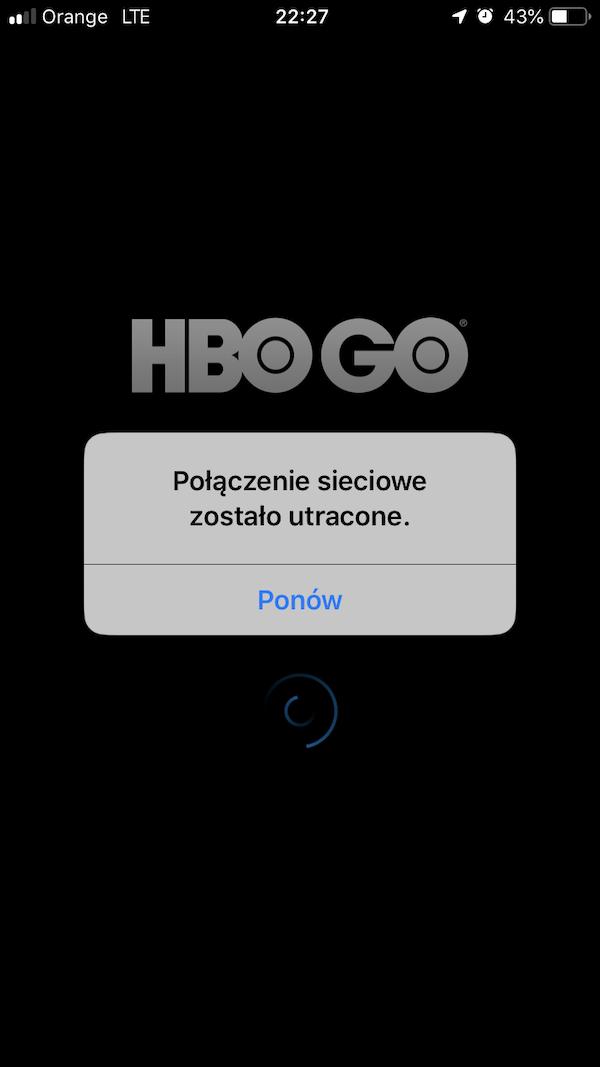 hbo go aplikacja nie dziala