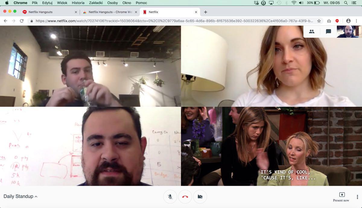 Netflix Hangout - oglądaj seriale w pracy