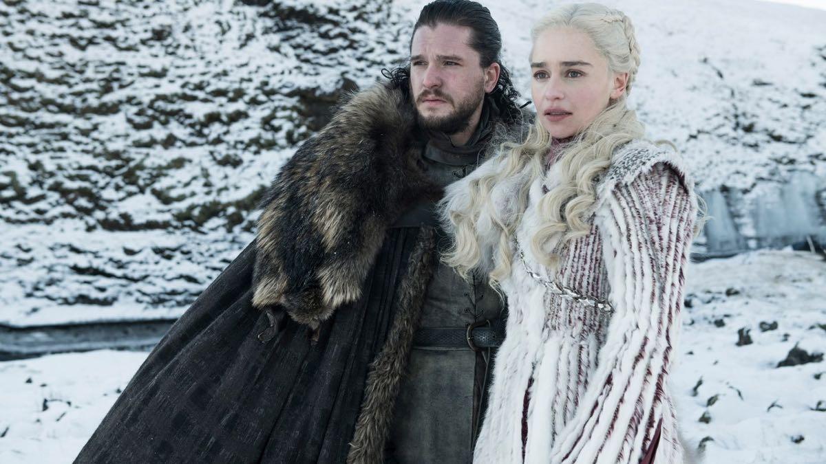 Gra o tron - Emilia Clarke i Kit Harington