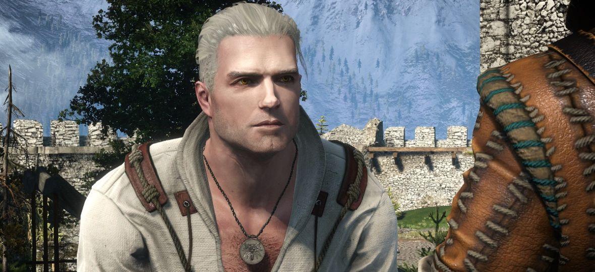"""""""Wiedźmin 3"""" z modyfikacją zmieniającą Geralta w wersję z serialu. Jak wygląda Henry Cavill w walce z Dzikim Gonem?"""