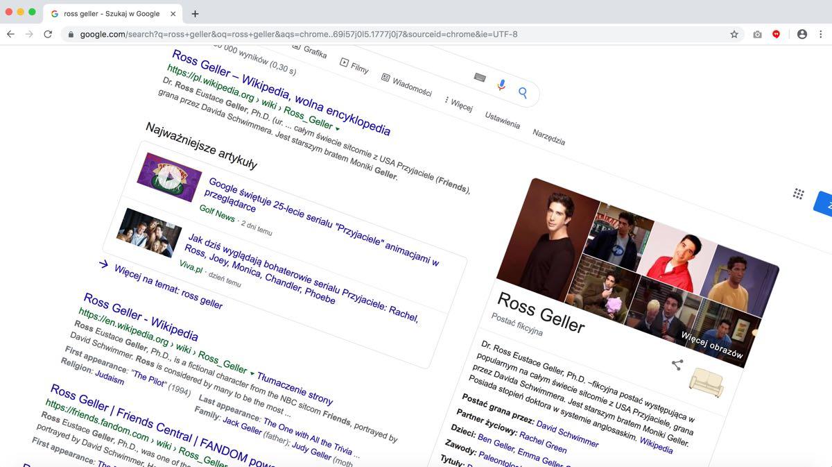 Google świętuje 25-lecie Przyjaciół