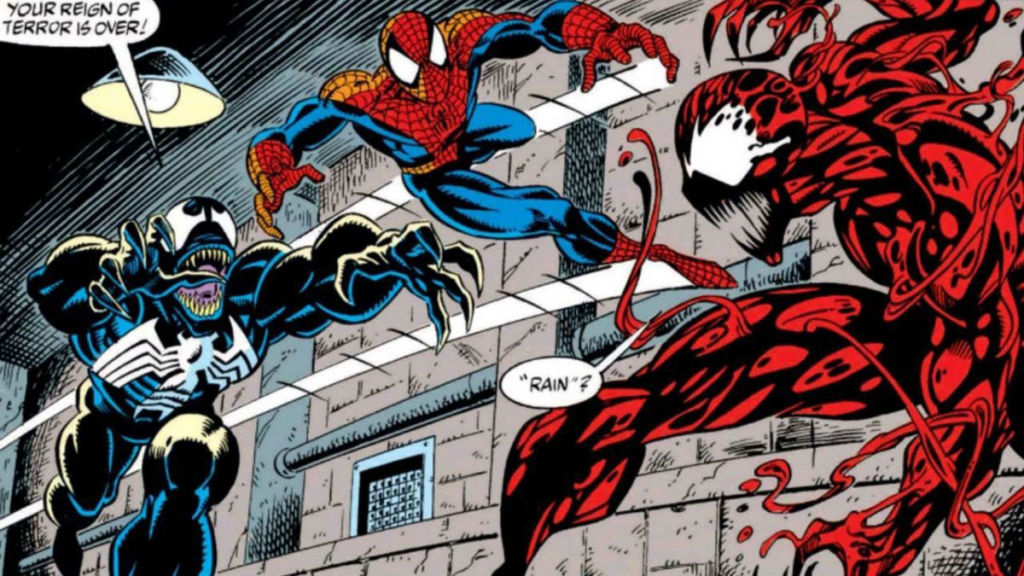 venom spider man carnage komiks