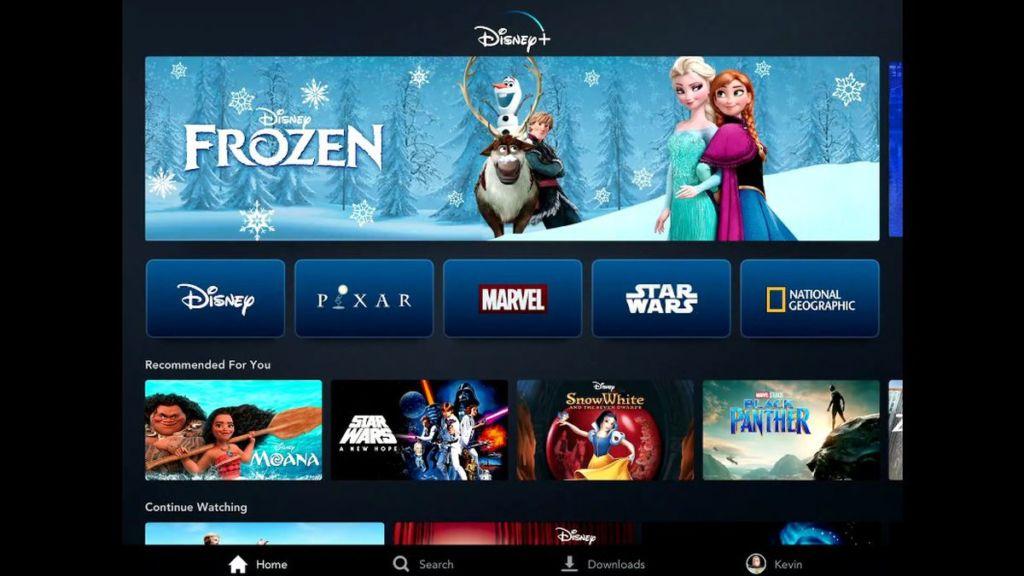 Disney Plus – interfejs