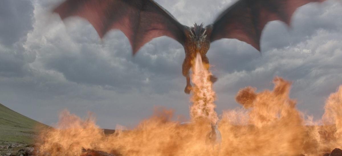 Drogon - kadr z serialu Gra o tron