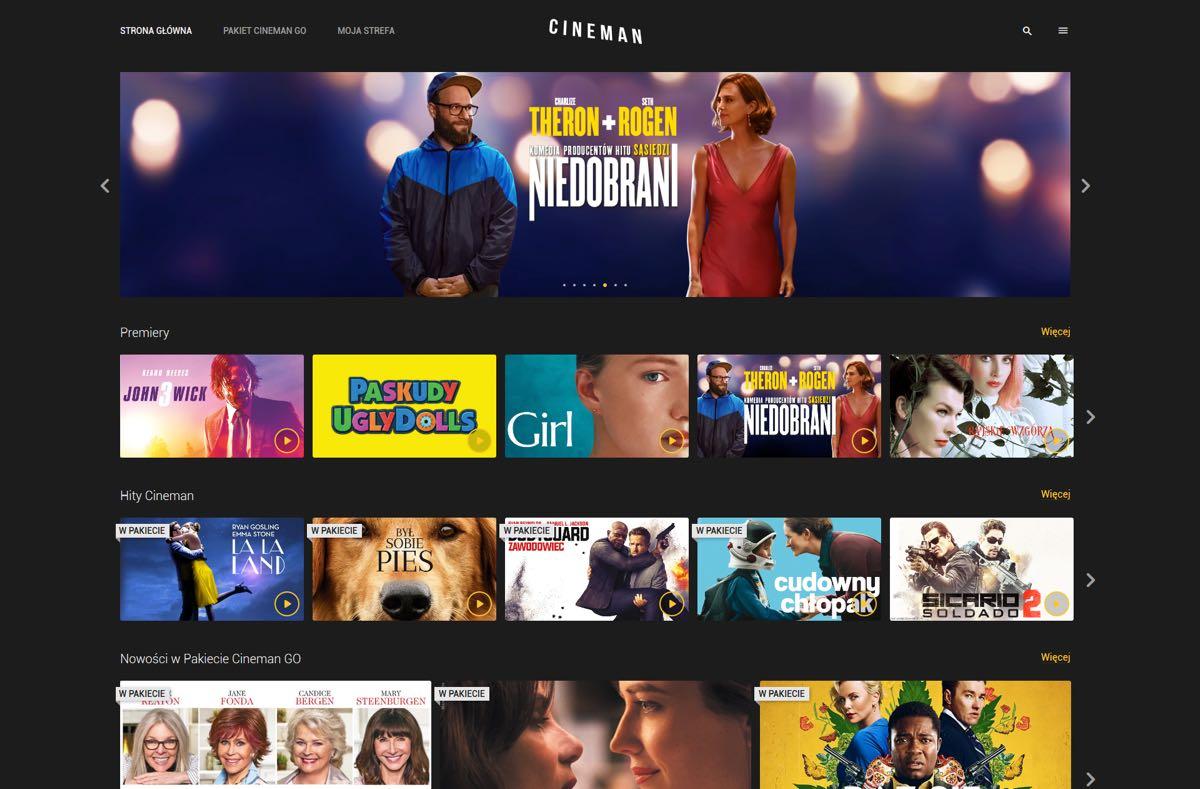 Cineman - nowa wersja serwisu