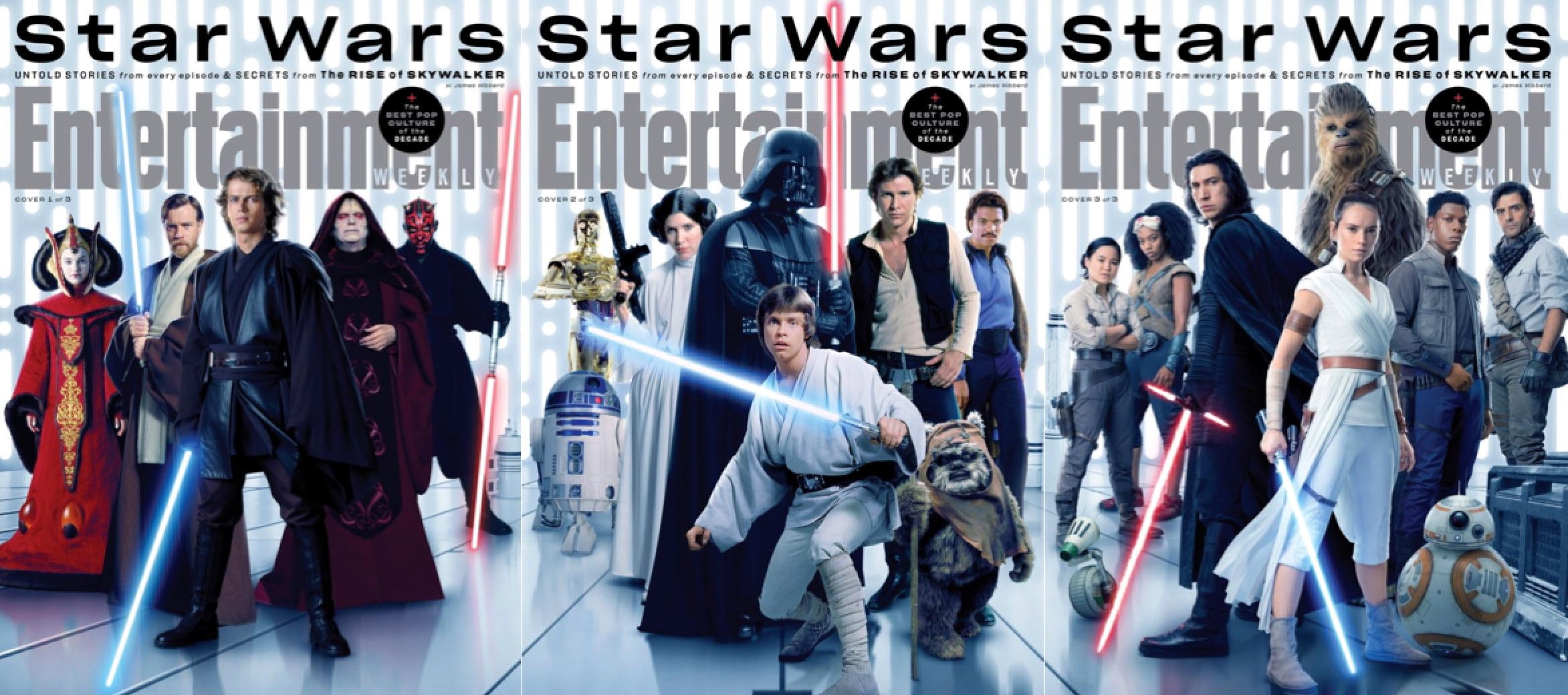 Gwiezdne wojny - Skywalker Odrodzenie - okładki Entertainment Weekly
