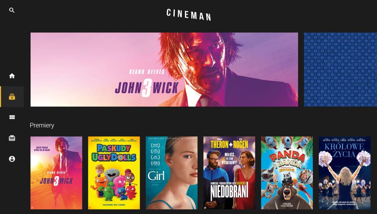 Cineman.pl - nowa wersja serwisu - strona główna